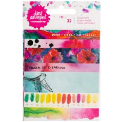 Jane Davenport Mixed Media Washi Tape Book W/5 Sheets - Strips & Phrases